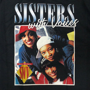"SWV ""Sisters with Voices"" Vintage Style T-Shirt -BLACK-"