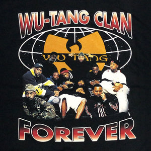 "WU-TANG CLAN ""FOREVER"" Vintage Style T-Shirt-BLACK-"