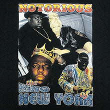 "画像をギャラリービューアに読み込む, Notorious B.I.G. ""King Of NY"" Vintage Style T-Shirt-BLACK-"