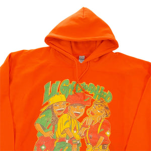 "TLC ""LIL GIRLS IN DA HOOD"" Vinatge Style P/O Hoodie -ORANGE-"