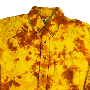 """L.L.Bean"" Tie Dye L/S Shirt -YELLOW-"