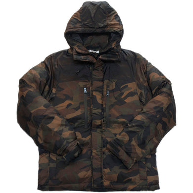 NO BRAND Hooded  Down Jacket -WOODLAND-