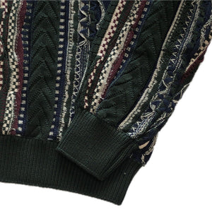 """Coogi Style"" Crew Neck Sweater-GREEN-"