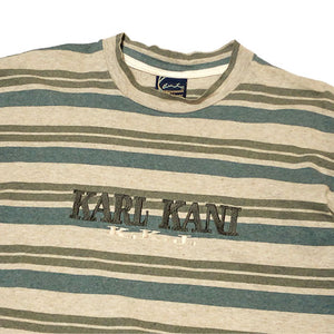 """KARL KANI"" Border T-Shirt -KHAKI-"