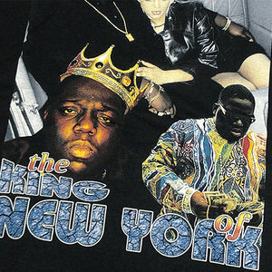 "Notorious B.I.G. ""King Of NY"" Vintage Style T-Shirt-BLACK-"