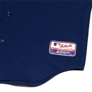 "Majestic ""Los Angeles Dodgers"" Baseball Jersey-BLUE-"