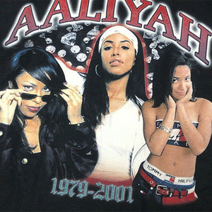 "AALIYAH ""FOREVER"" Vintage Style T-Shirt -BLACK-"