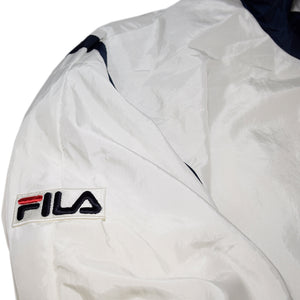 """FILA"" Zip Up Nylon Jacket -WHITE-"