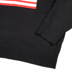 """USA FLAG"" Crew Neck Sweater -BLACK-"