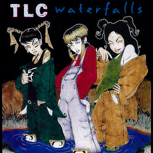 "TLC ""Waterfalls"" Vintage Style T-Shirt -BLACK-"