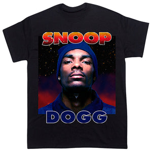 """Snoop Dogg"" Vintage Style T-Shirt-BLACK-"
