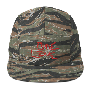 """ONE LOVE"" 5Panel Camper Cap -TIGER CAMO-"