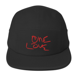 """ONE LOVE"" 5Panel Camper Cap -BLACK-"