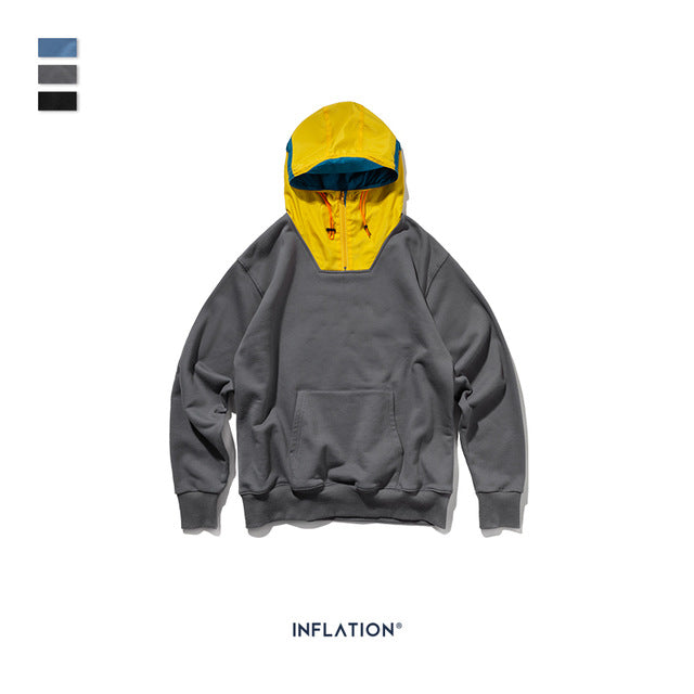 INFLATION Contrast Color P/O Hoodies