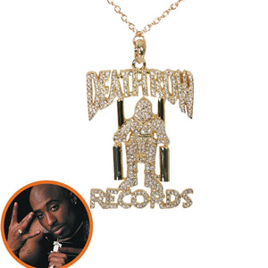 """DEATHROW RECORDS"" Logo Necklace"