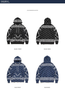 """INFLATION"" Paisley Pattern P/O Hoodie"