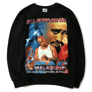 "2PAC ""ALL EYES ON ME"" Vintage Style Sweat-BLACK-"
