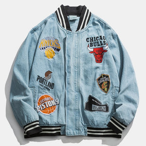 """NBA Embroidery"" bomber Jacket"