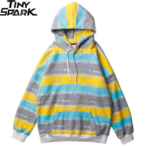"""TINY SPARK"" Colored Stripe P/O Hoodie"
