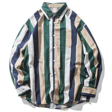 画像をギャラリービューアに読み込む, Aelfric Eden Wide Striped Color Block Patchwork Shirts