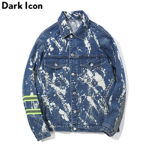 """DARK ICON"" 3M Reflection Tie Dyeing Jeans Jacket"