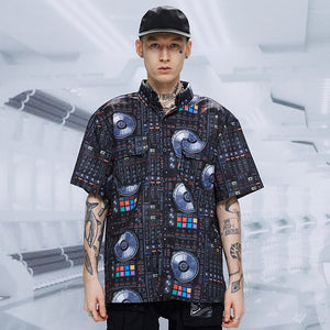 "TINY SPARK ""HIPHOP"" S/S Shirt-BLACK-"