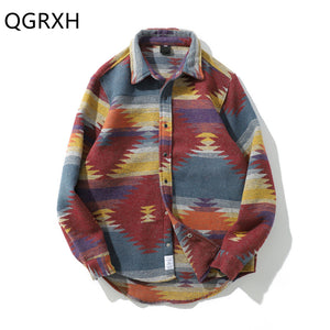 Vintage Folk Custom Native Pattern L/S Shirt