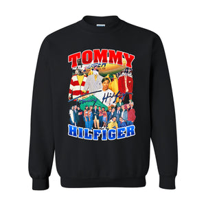"""TOMMY HILFIGER"" Vintage Style Sweat -BLACK-"