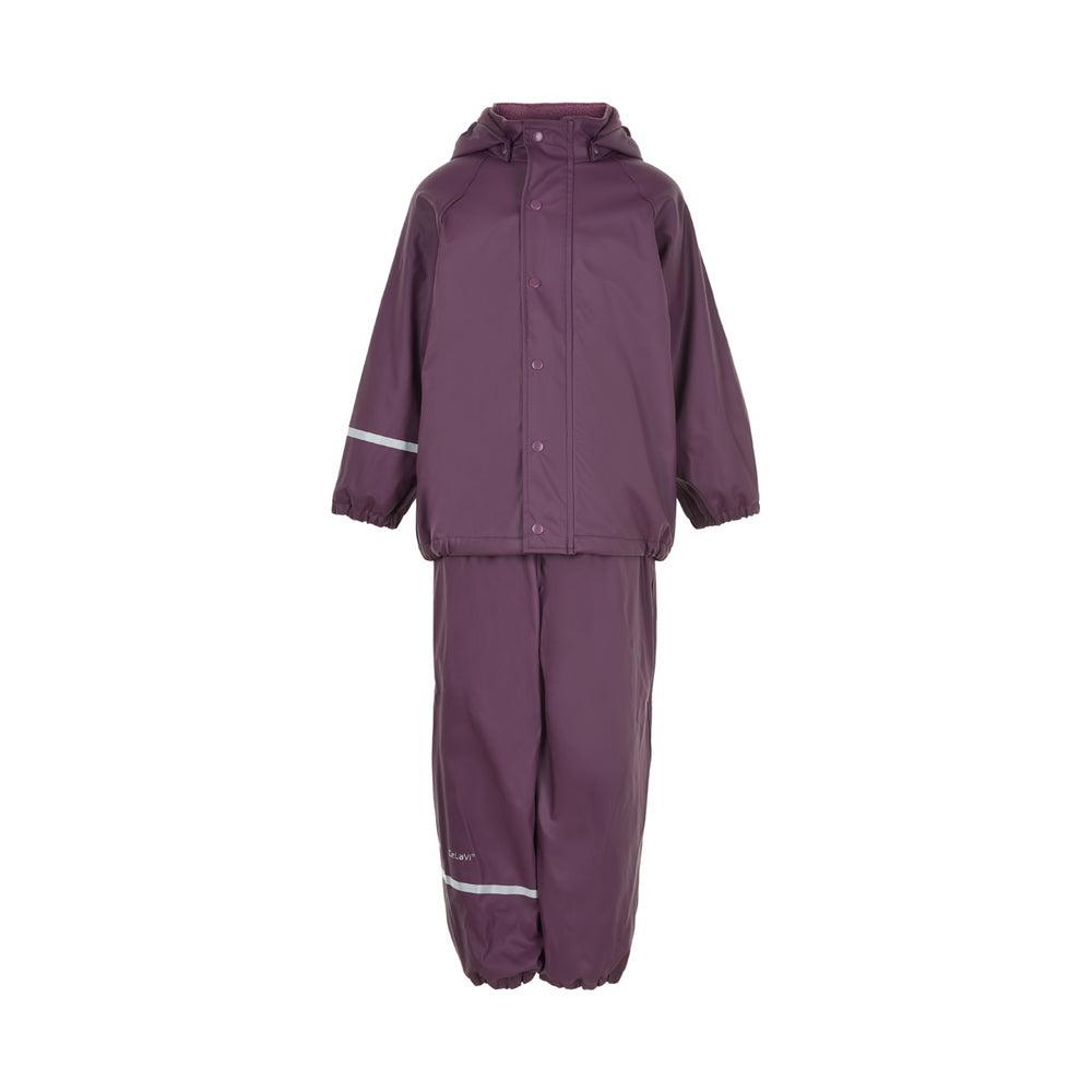 Fleece-lined Waterproof 2 Piece Set, Purple, ages 5-10