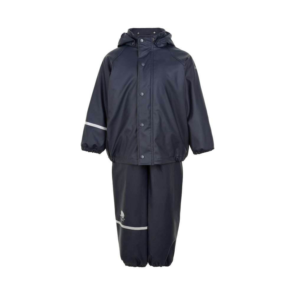 Fleece-lined Waterproof 2 Piece Set, Navy, ages 6-8