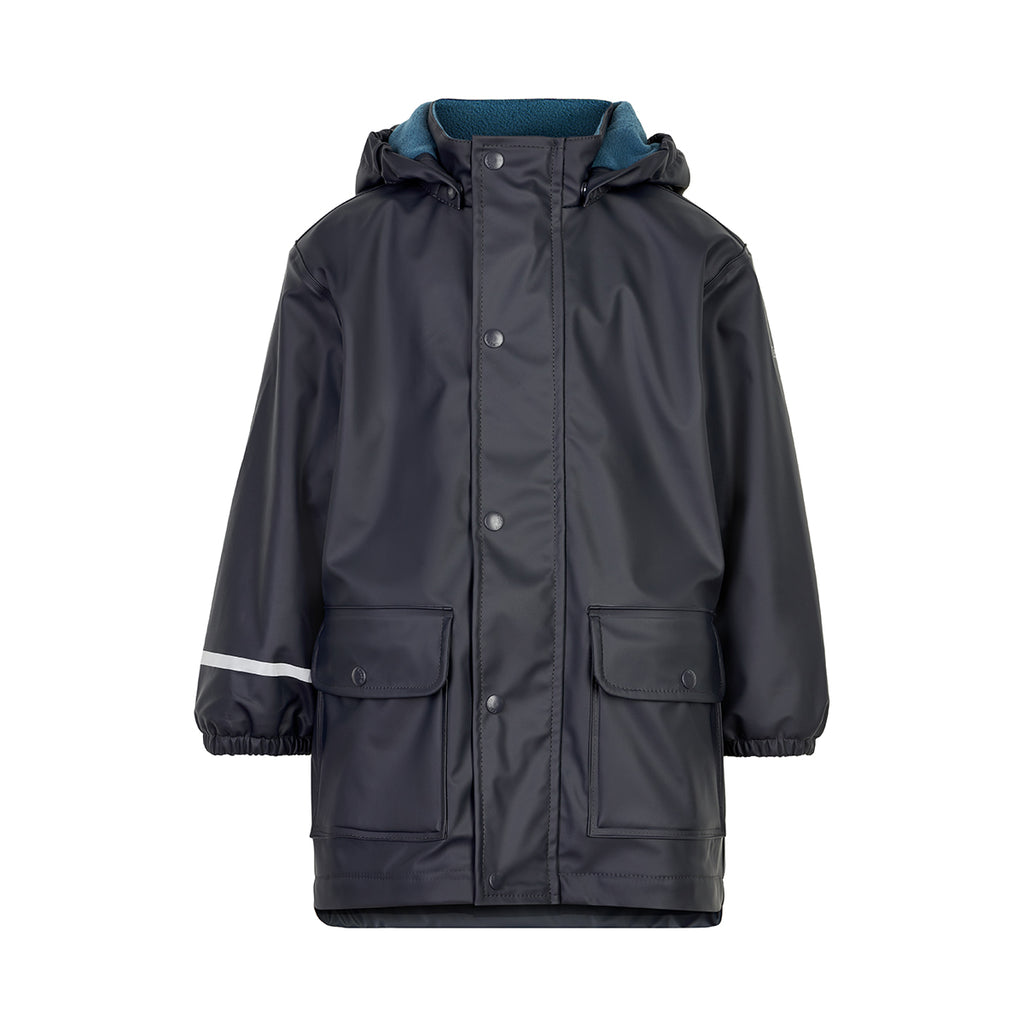 Fleece-lined Coat Navy