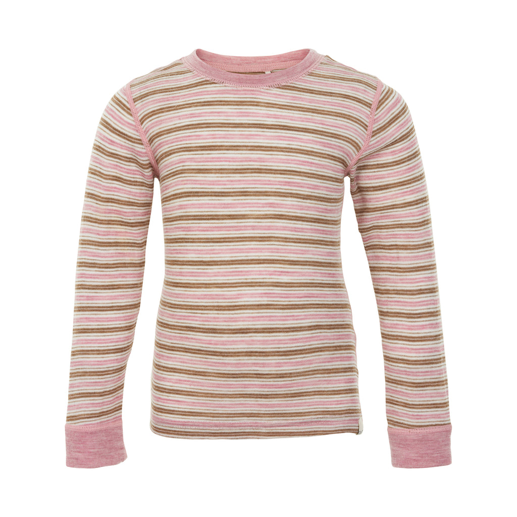 Merino Wool Thermal Top - Pink Shadow, age 2-10