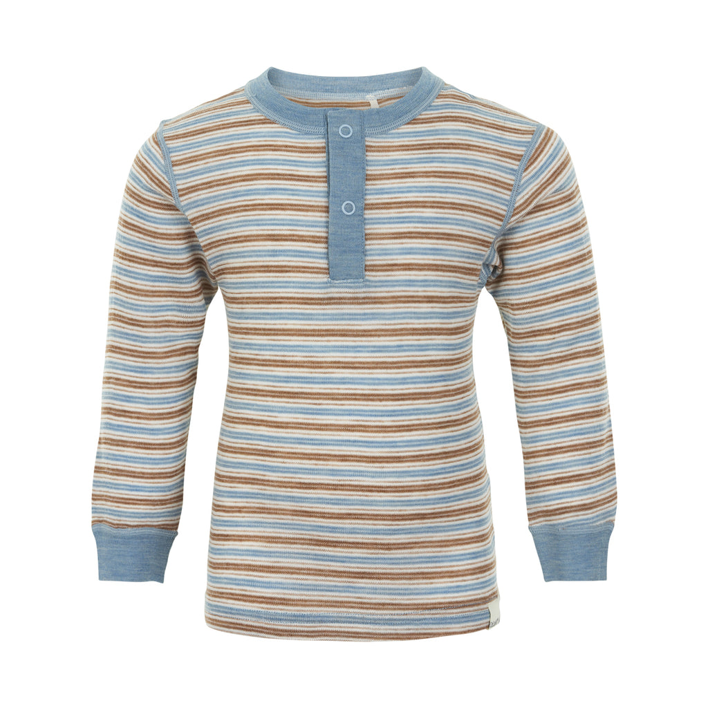 Merino Wool Thermal Top - Blue Shadow, ages 2 - 10