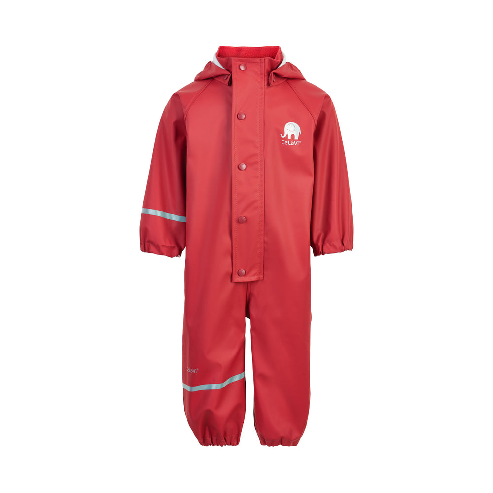 Kids Waterproof Overall Red