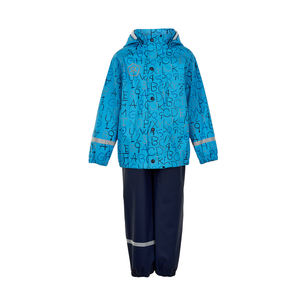 ABC Waterproof Dungarees and Jacket Set, Blue, ages 1-6