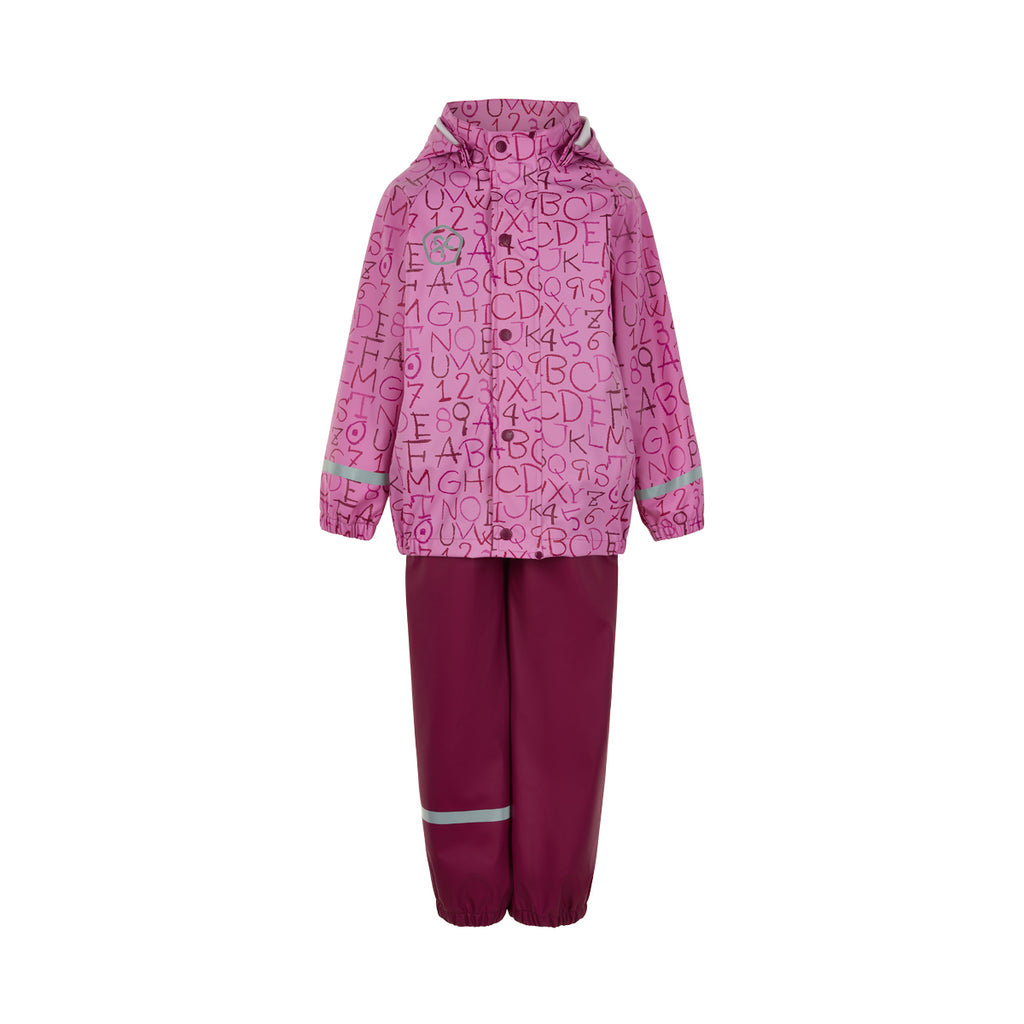 ABC Waterproof Dungarees and Jacket Set, Pink, ages 1-5