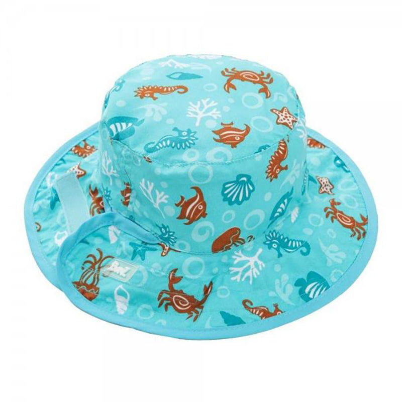 Reversible UV50+ Sun Hat, Sealife, ages 0-5
