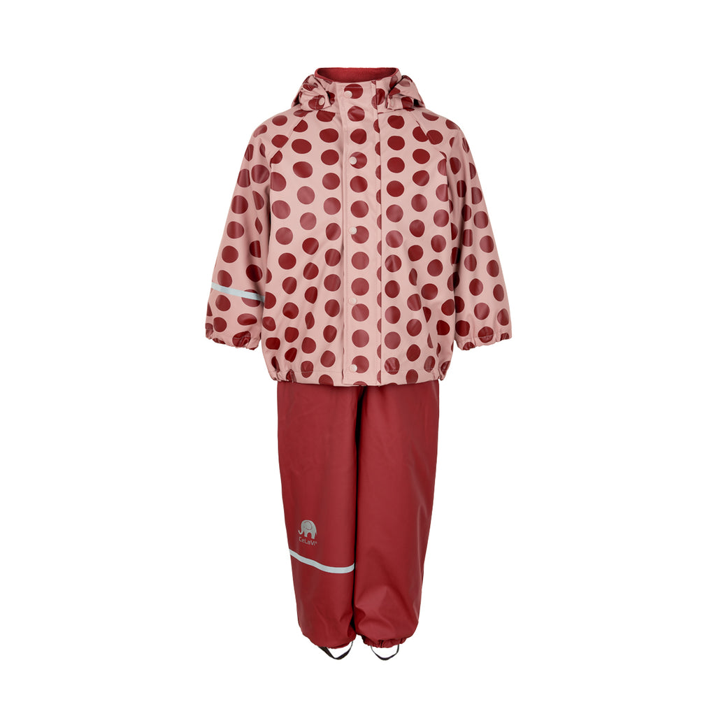 Fleece-lined Waterproof 2 Piece Set, Spotty Dotty, ages 2-10 years