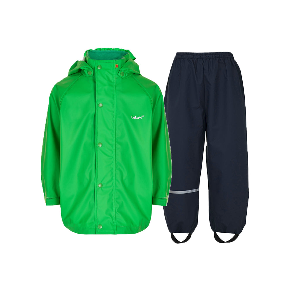 Kids Waterproof Set - Green/Navy