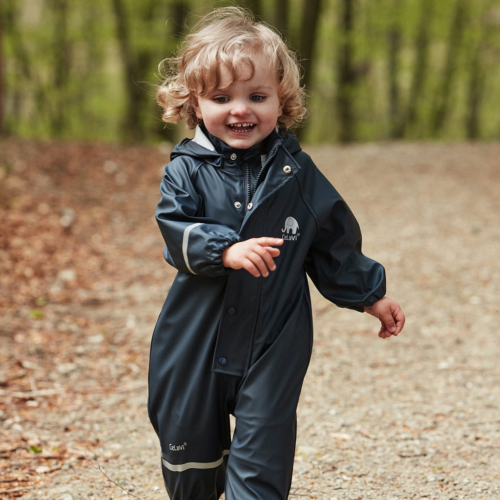 Child Waterproof Overall Navy