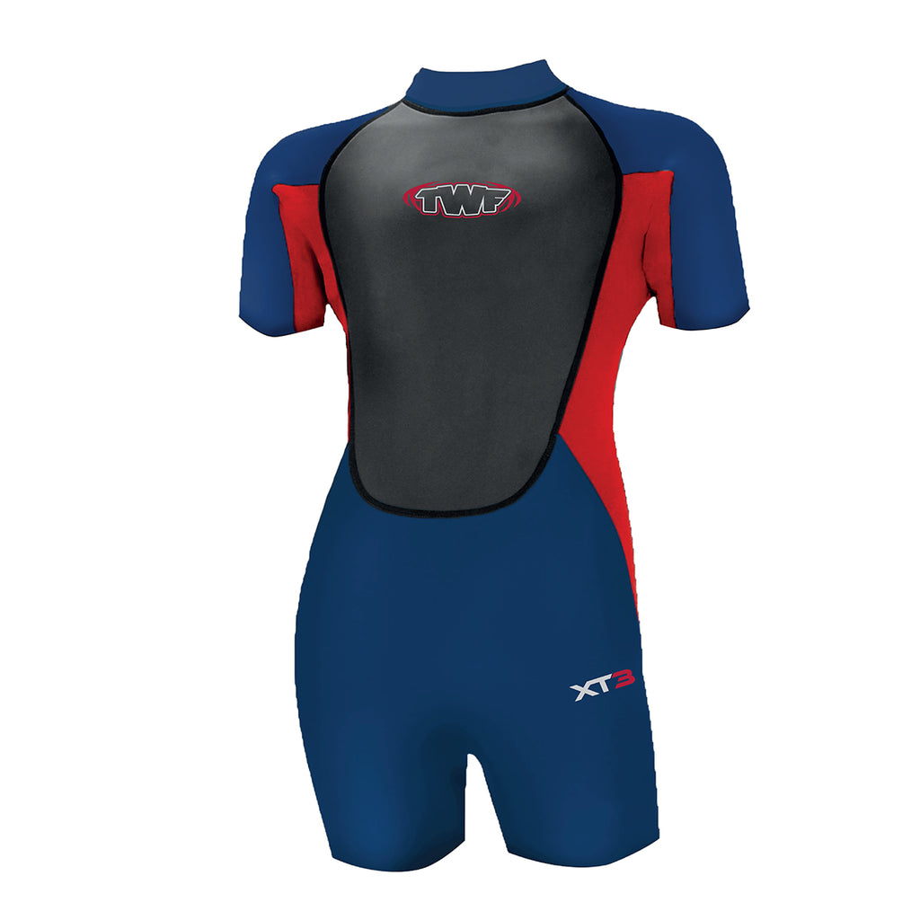 Kids Short Wetsuit Red-Navy