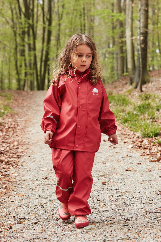Red Dungarees and Jacket Set, ages 1-8
