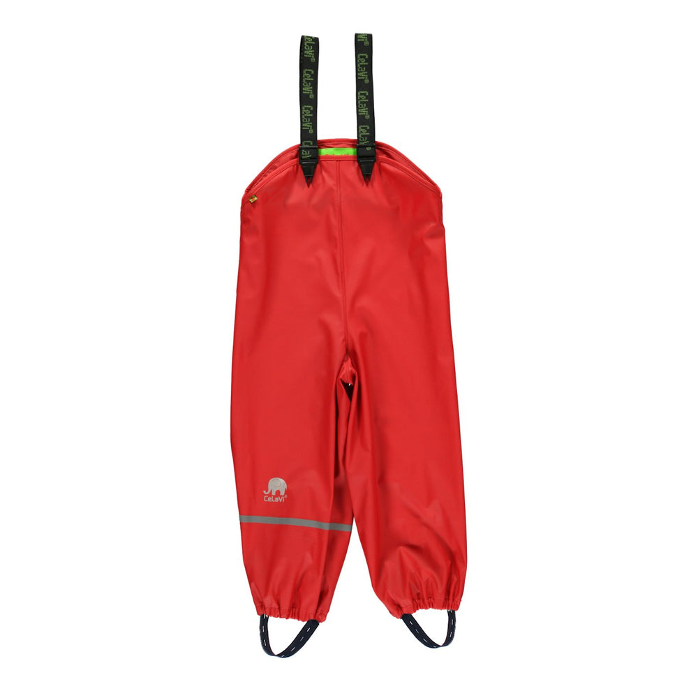 Kids Waterproof Dungarees - Red