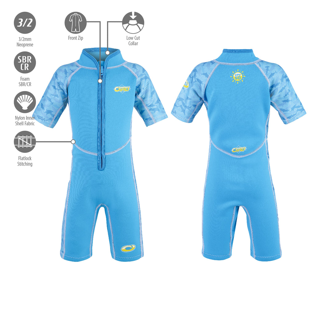 Babies & Infants Short Wetsuit - Sharks