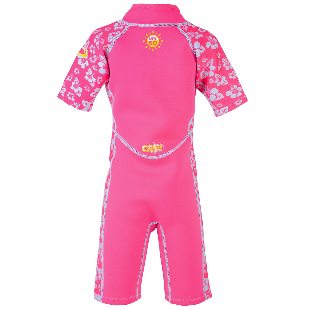 Babies and Infants Short Wetsuit - Hibiscus