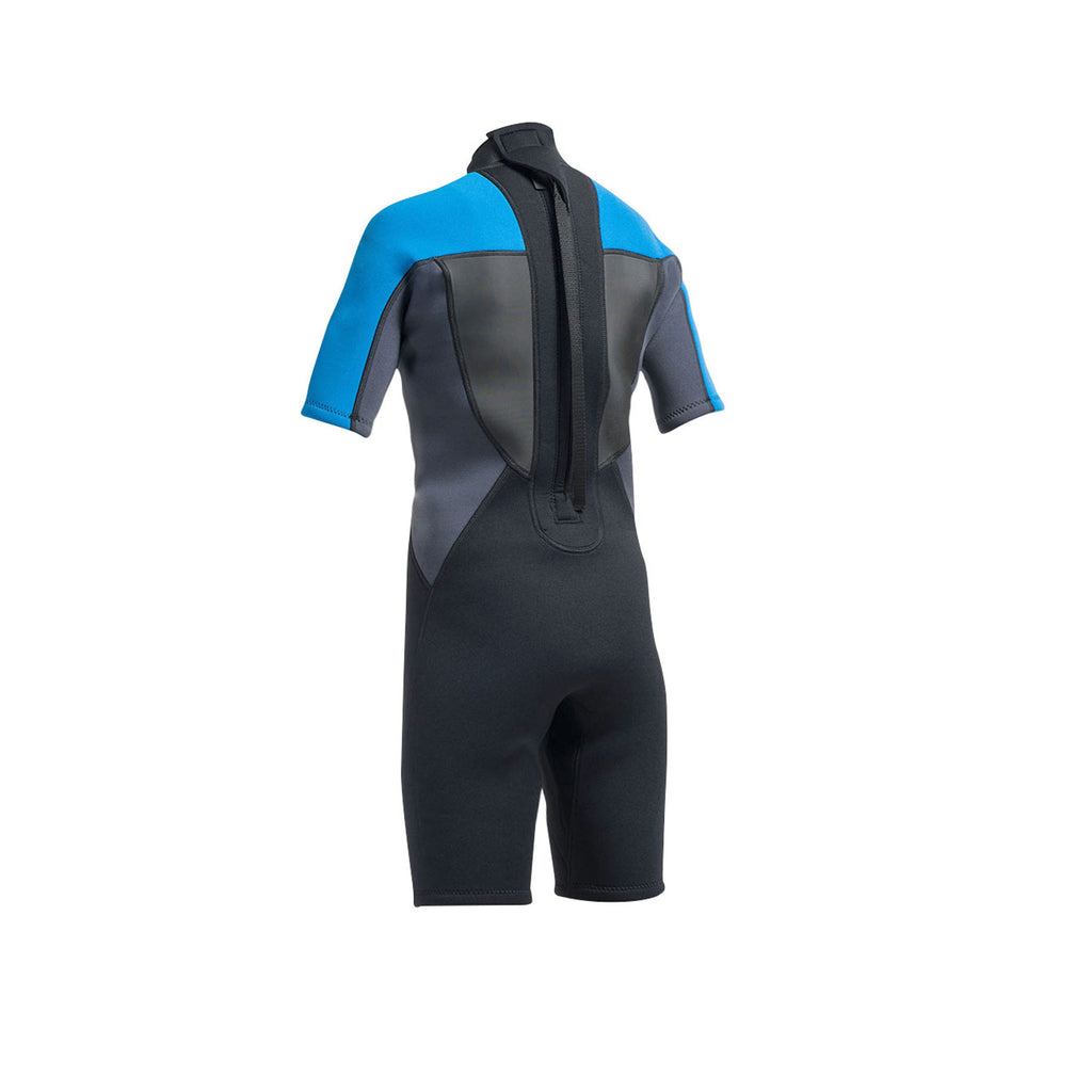 Children's Wetsuit Short Blue - Back