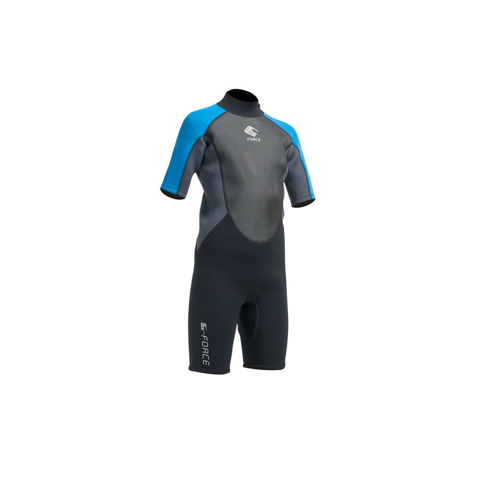 Children's Wetsuit Short Blue - Front