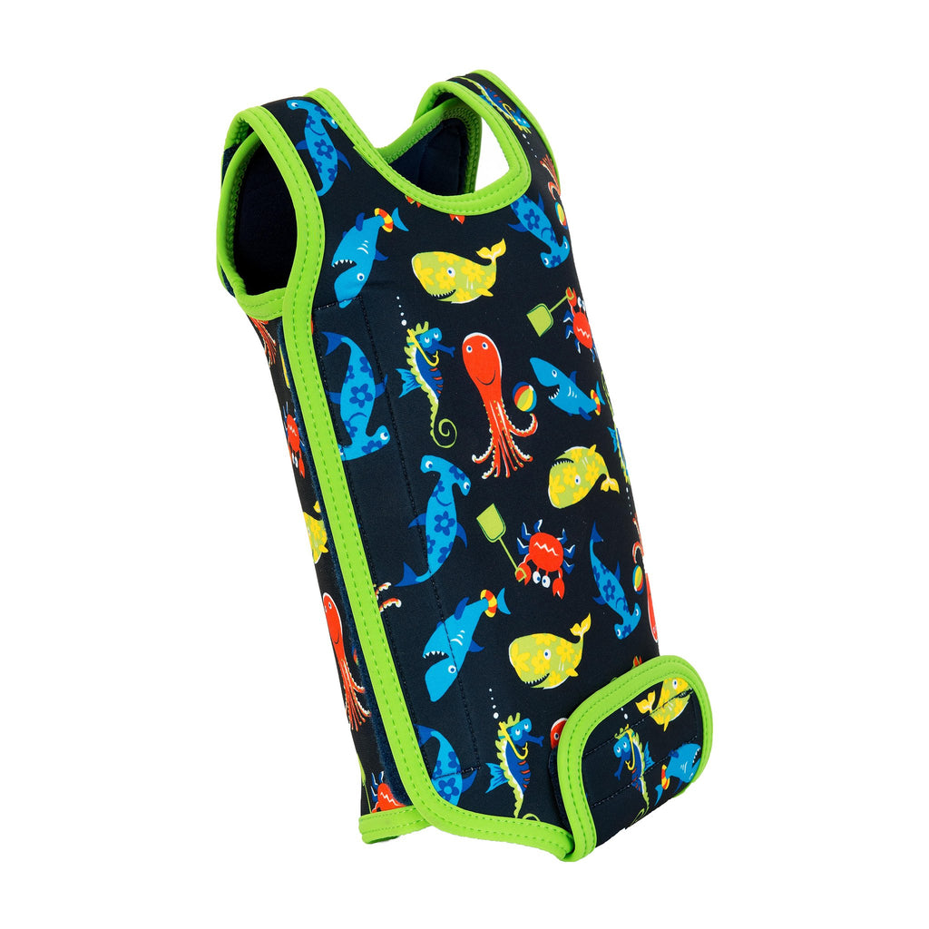 Baby Swimming Wetsuit - Navy Sea Life, 0-2 years