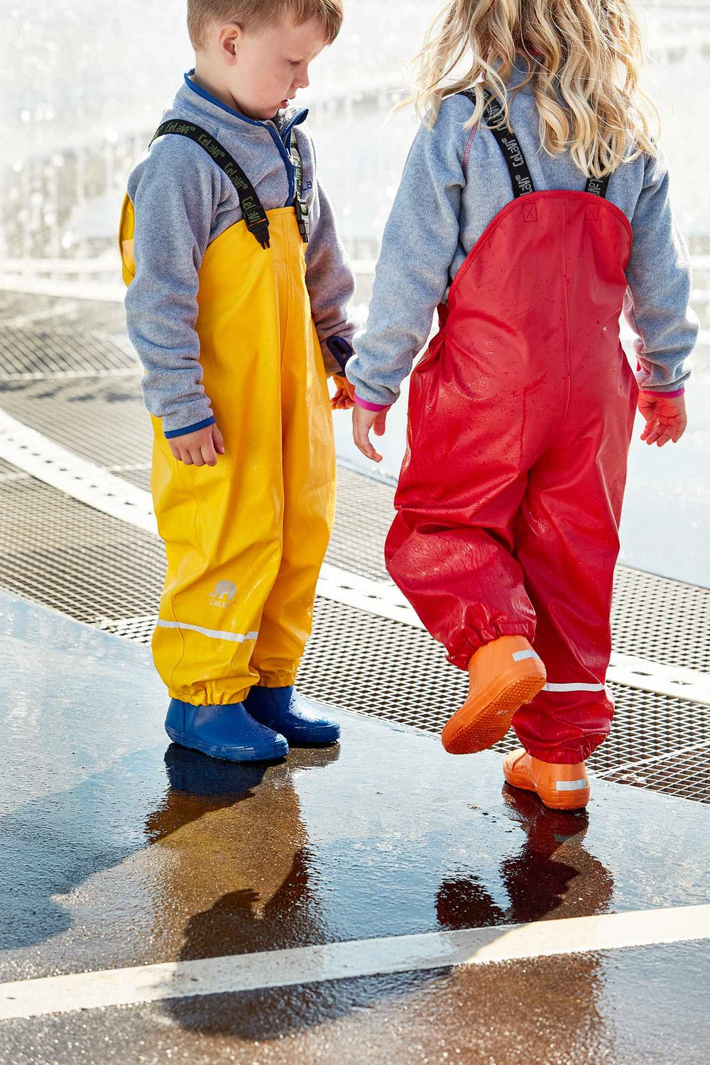 Kids Waterproof Rain Dungarees