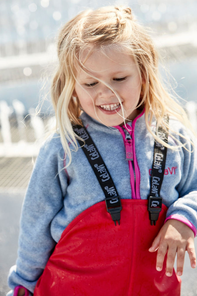 Children's Waterproof Dungarees - Red